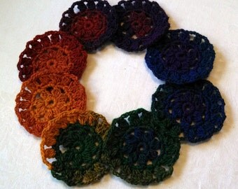 Rainbow Flower Coasters Set of 8 - Donation to Whatcom Humane Society