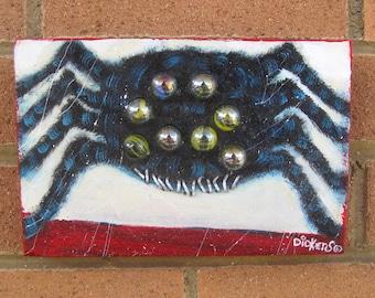 Original Painting ~ Marble Eyed Spider