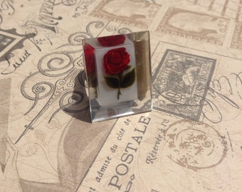 Vintage Repurposed Rose Upcycled Ring, adjustable,OOAK,Mothers day