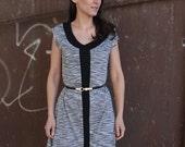 LAST SALE 50% off!!!! under 50, GREY Line in grey melange  A line dress