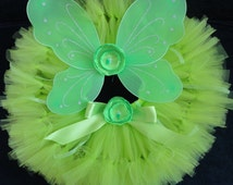 Baby Girls Birthday Tutu Dress Outfit, Lime Fairy Costume Tutu Dress for Baby Girls Halloween Costumes