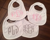 Set of 4 Personalized Bibs