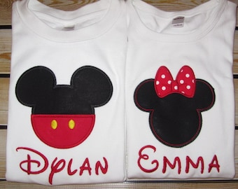 Personalized Mouse Ears Shirt GIrl or Boy