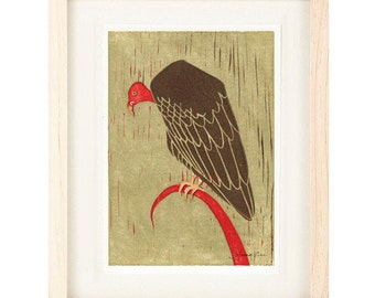 TURKEY VULTURE Poster Size Reproduction Art Print: 8 x 10, 9 x 12, 11 x 14, 12 x 16