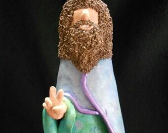 """SALE*The Wizard """"Hippie Dude"""" - OOAK - Clay Art"""