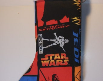 Star Wars Christmas Stocking   Star Wars Fabric   Darth Vader Jedi Spielberg