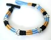 Bead Woven Herringbone Rope Bracelet
