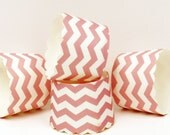 CHEVRON CUPCAKE Baking Cups, PINK Candy / Nut Cups,  Party, Homemade, Gift, Presentation, Packaging, Baby Shower, Wedding, Spring, Easter