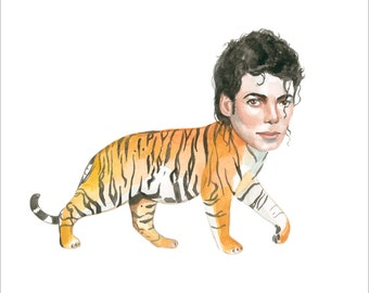 Michael Jackson as a tiger