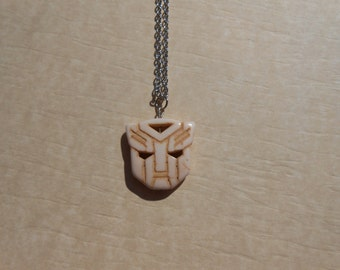 Transformers Autobot White Howlite Necklace