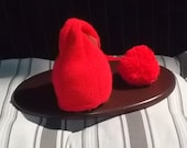 Knitted Baby Elf Hat Baby Christmas hat  Baby Santa helper  Baby Photo Prop   Newborn Christmas hat  Custom Orders