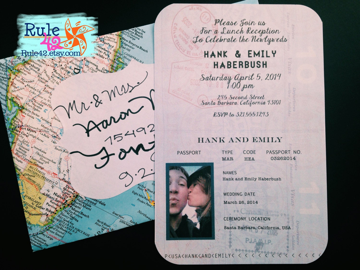 Custom passport invite by rule42 for suzanne for Wedding invitations 50 cents each