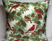 Pillow Covers,Christmas Pillows,Cardinal Pillows,Bird Pillow Covers,Sofa Pillows,Throw Pillows, Decorative Pillows,18x18 pillow covers