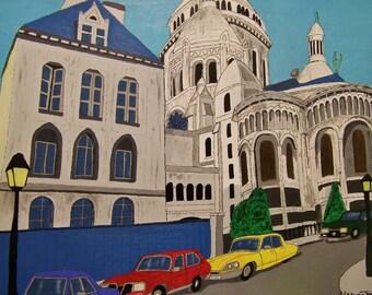 Basilica Sacre Coeur, Montmartre, Paris (print)
