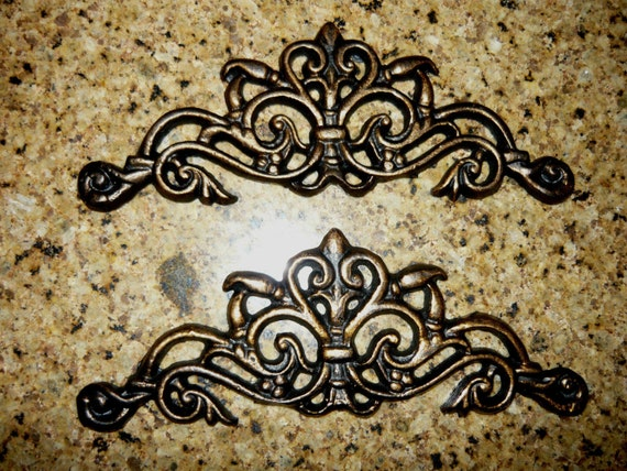 Small Metal Plaques Set 2 Small Cast Iron / Metal
