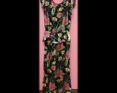 Vintage Silk/Velvet 1940's Dress - SALE