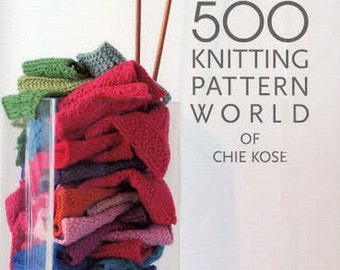 Knitting Patterns 500, Chie Kose, Japanese Knit & Crochet Book, Hand Knit Design, Easy Tutorial, Cable Pattern, Lace Pattern, Edging - B551