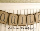 Everyday banner -  QUILTS BANNER - GARLAND - Wall Hanging - Decoration - Photo props - Sewing room banner - Bunting - Pennant