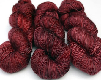 Silk Merino - Single Ply Sock Yarn- Kettle Dyed