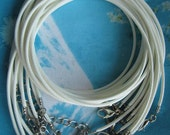 15pcs 1.5mm 16-18 inch adjustable white korea wax string snake necklace cords