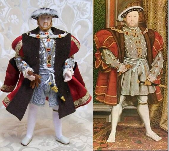 King Henry VIII Tudor Doll,  12th scale dollhouse doll  by IGMA artisan Tiggy Goldsmith