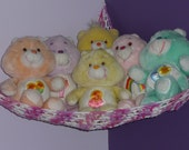 Hammock for Stuffed Animals, Patio Pinks