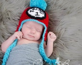 Baby boy hat, baby girl hat, crochet Thing hat, photo prop, dr seuess hat, seuss thing hat, baby shower gift, coming home outfit