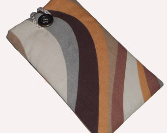 Brown Retro Inspired Mobile Cellphone Ipod Gadget Case Pouch Sock PADDED Gift Idea