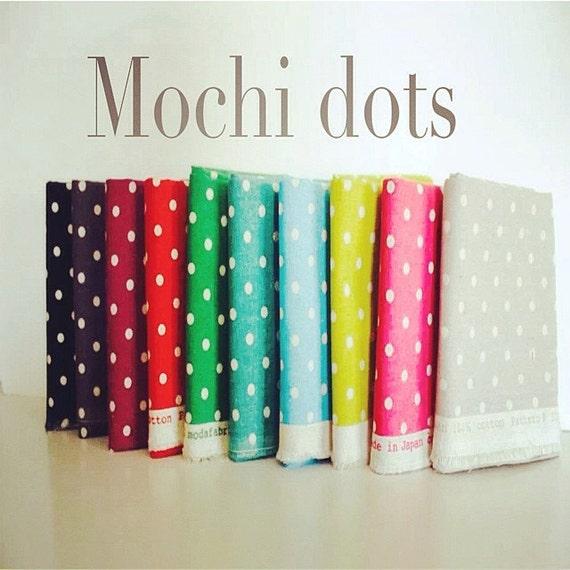 Mochi Linen Dots by Momo for Moda Fabrics, Fat Quarter bundle 10 total