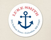 Anchor Address Labels / Nautical Address Labels - Sheet of 24