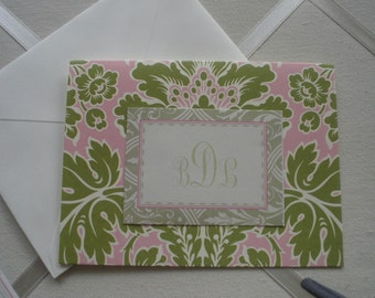 Anna Griffin Olivia Notecard Plain White Envelope Five for Five
