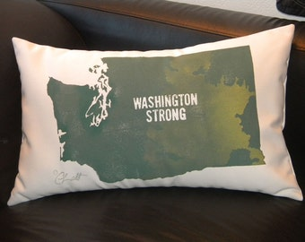 OSO LANDSLIDE BENEFIT Any town name on Washington map 12x20 Darrington Arlington Pacific Northwest Seattle Crabby Chris Original