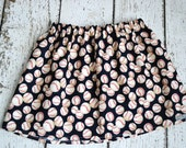 Girls Baseball Skirt in Navy handmade by sweet threads