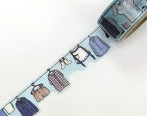 Yano Design Die Cut Japanese Washi Masking Tape / Laundry  Day for scrapbooking, packaging, invitation, card, tag making