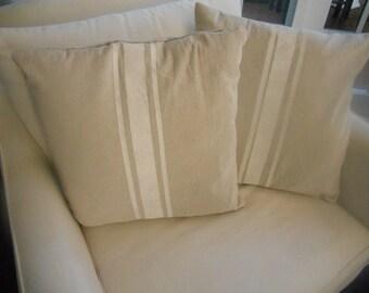 French Grain Sack like Pillow Slips