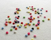 22 pcs Tiny Round Mixed Colour Buttons 5mm - Doll Clothing, Blythe,