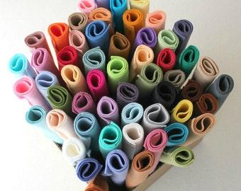 Merino Wool Blend Felt - You Choose 10 9x12 Sheets