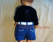 Baby Denim shorts, Diaper Cover, Jeans Shorts , Capris Shorts, Buttons at Legs for Easy Change - INSTANT DOWNLOAD Crochet e-Pattern