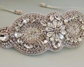Wedidng Bridal Beaded Crystal Bracelet Cuff Bangle