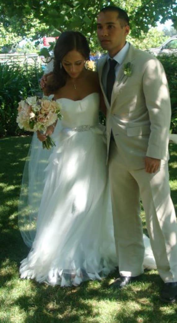 Bridal Wedding Gown Dress Sash Jeweled Belt Buckle Brooch