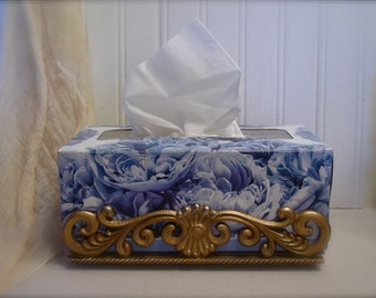 Vintage Hollywood Regency - Tissue Holder - Paris Apartment Chic - Victorian Home - Shabby Chic Decor Accents