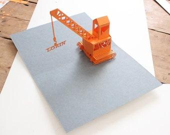 pop-up personalised, happy birthday crane card