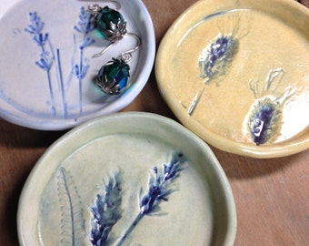 "Petite Lavender 3"" dipping bowl, jewelry dish, tea bag rest"