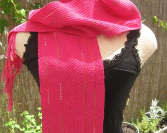 Hot Pink with Ribbon Scarf
