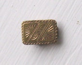 "Antique Etched ""Gold"" Pin"
