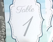 PRINTED Reception Table Numbers Ombre - Set of 10 - Style TN6 - OMBRE COLLECTION