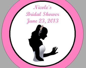 Personalized Bridal Shower Circle Favor Tags