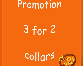 dogs-art PROMOTION 3 for 2 collars