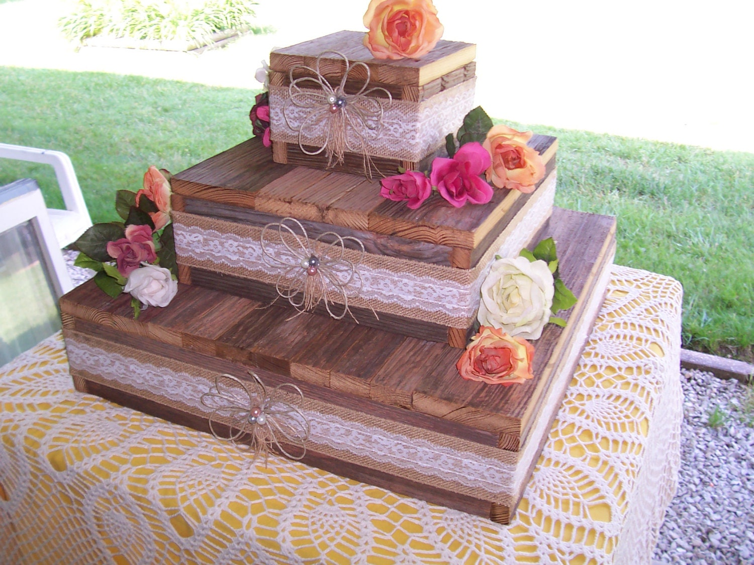 wedding cake stand reception decorations cupcake stands 3 tier. Black Bedroom Furniture Sets. Home Design Ideas
