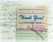 Vintage Thank You Sales Receipts  / Junk Journal / Daily Planner